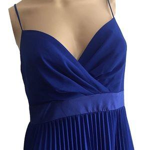 BCBG MaxAzria Evelyne blue gown